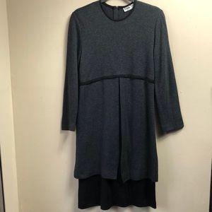 Ronni Nicole Gray and Black Layered Dress